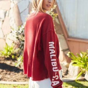 Brandy Melville Red Mailibu Point Dume  Themal